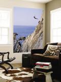 La Quebrada, Cliff Diver, Acapulco, Mexico Wall Mural by Steve Vidler