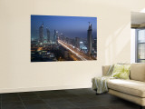 Emirates Towers, Sheik Zayed Road Area, Dubai, United Arab Emirates Mural por Walter Bibikow