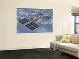 October 2006, Computer Generated Artist's Rendering of the Completed International Space Station Wall Mural