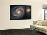 The Whirlpool Galaxy (M51) and Companion Galaxy Reproduction murale géante