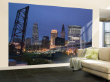 Detroit Avenue Bridge, Cleveland, Ohio, USA Wall Mural – Large by Walter Bibikow