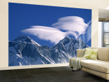 Everest and Lhotse, Nepal Wall Mural  Large by Jon Arnold
