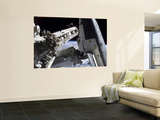 Space Shuttle Discovery Docked to the International Space Station Wall Mural