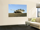 US Marines Provide Security in an M1A1 Abrams Tank Wall Mural
