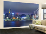Hong Kong Skyline from Kowloon, China Wall Mural – Large by Jon Arnold