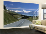 Mt. Cook, Southern Alps, South Island, New Zealand Wall Mural – Large by Jon Arnold