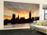 Big Ben and Houses of Parliamant, London, England Wall Mural – Large by Jon Arnold