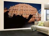Palace of the Winds, Camel in Silouhette, Jaipur, Rajasthan, India Wall Mural – Large by Steve Vidler