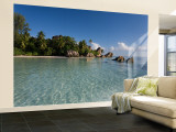 Anse Source d&#39;Argent Beach, La Digue Island, Seychelles Wall Mural  Large by Michele Falzone