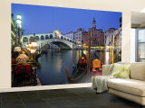 Rialto Bridge, Grand Canal, Venice, Italy Wall Mural  Large by Demetrio Carrasco