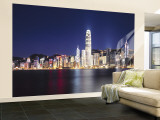 Hong Kong Skyline from Kowloon, China Wall Mural – Large by James Montgomery Flagg