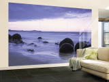 Moeraki Boulders, Otago, South Island, New Zealand Wall Mural – Large by Peter Adams