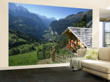 Alpine Cabin, Wengen and Lauterbrunnen Valley, Berner Oberland, Switzerland Wall Mural – Large by Doug Pearson