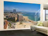 La Barceloneta, Platja De La Barceloneta, Barcelona, Spain Wall Mural – Large by Alan Copson