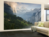 Wengen and Lauterbrunnen Valley, Berner Oberland, Switzerland Wall Mural – Large by Doug Pearson