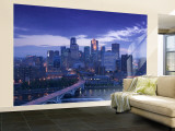 Skyline of Minneapolis, Minnesota, USA Wall Mural – Large by Walter Bibikow