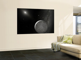 An Artist's Concept of Kuiper Belt Object 2003 UB313 (Nicknamed Xena) and Its Satellite Gabrielle Wall Mural