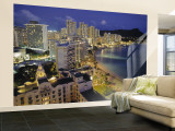 Waikiki Beach, Honolulu, Oahu, Hawaii, USA Wall Mural  Large by Walter Bibikow