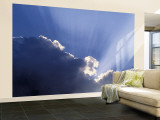 Sun rays through clouds Gran mural por Jon Arnold