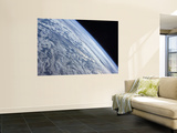 Earth's Horizon Against the Blackness of Space Wall Mural