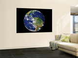 Full Earth Showing South America Wall Mural