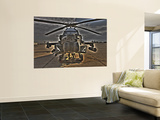 Seven Exposure HDR Image of an AH-64D Apache Helicopter as it Sits on its Pad Wall Mural
