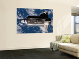 A Nadir View of the Space Shuttle Atlantis, June 10, 2007 Wall Mural