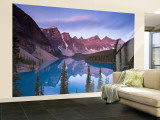 Moraine Lake and Valley of 10 Peaks, Banff National Park, Alberta, Canada Wall Mural – Large by Michele Falzone