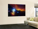 Alnitak Region in Orion (Flame Nebula NGC2024, Horsehead Nebula IC434) Wall Mural