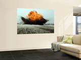 An Explosion Erupts from the Detonation of a Weapons Cache Wall Mural