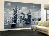 Tower Bridge and Thames River, London, England Wall Mural – Large by Steve Vidler