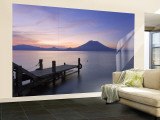 Jetty, Lake Atitlan and Volcano San Pedro, Dawn, Guatemala Wall Mural – Large by Michele Falzone