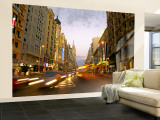 Gran Via, Madrid, Spain Wall Mural  Large by Alan Copson