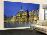 Musee de La Ville, Grand Place, Brussels, Belgium Wall Mural  Large by Jon Arnold