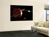 This is an Artist's Concept of a Jupiter-Mass Planet Orbiting the Nearby Star Epsilon Eridani Wall Mural