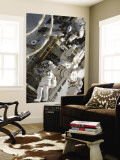 Astronauts Participating in Extravehicular Activity During STS-124 Wall Mural
