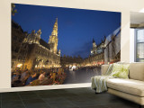 Hotel de Ville, Grand Place, Brussels, Belgium Wall Mural – Large by Alan Copson