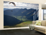 Paragliding, Jacobshorn, Davos, Graubunden, Switzerland Wall Mural – Large by Doug Pearson