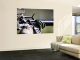 A Round Flies from the Chamber of an M-16A2 Service Rifle Wall Mural