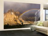 Rainbow, Passu, Khunjrab River, Northern Pakistan Gran mural por Michele Falzone