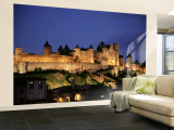 La Cite, Carcassonne, Languedoc Roussillon, France Wall Mural – Large by Alan Copson