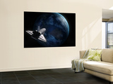 Space Shuttle Backdropped Against Earth Wall Mural