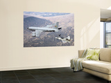 F-22 Raptor Receives Fuel from a KC-135 Stratotanker Wall Mural