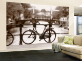 Bike on Bridge and Canal, Amsterdam, Holland Wall Mural – Large by Jon Arnold