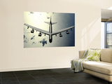 B-52 Stratofortress in Flight over the Pacific Ocean Wall Mural