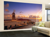 Lighthouse at Cabo de Sao Vincente, Sagres, Algarve, Portugal Wall Mural  Large by Walter Bibikow