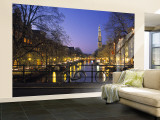 Prinsengracht and Wsterkerk, Amsterdam, Holland Wall Mural – Large by Jon Arnold