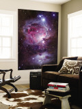 M42, the Orion Nebula (Top), and NGC 1977, a Reflection Nebula (Bottom) Wall Mural