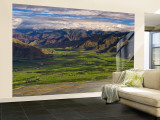 Panorama from Ganden Monastery, Tagtse County, Tibet Wall Mural – Large by Michele Falzone