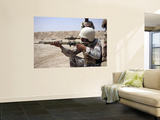 Iraqi Army Sergeant Sights in Down Range During an Advanced Marksmanship Course Wall Mural